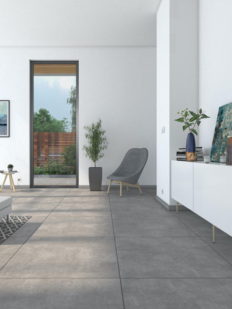 Eclipse Anthracite Indoor Wall & Floor Tile - 600x600(mm)