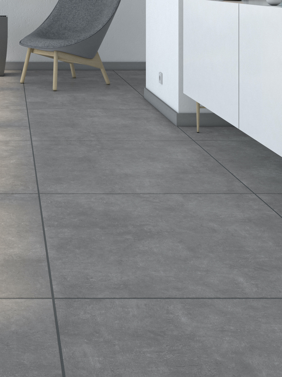 XXXL Eclipse Anthracite Indoor Wall & Floor Tile - 1000x1000(mm)