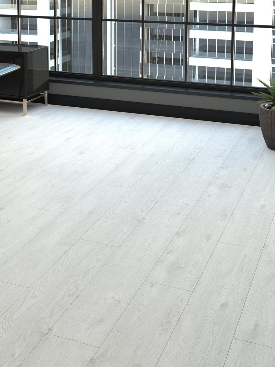 White Oak Wood Click Laminate Flooring - 1200x191x8(mm)