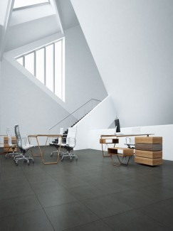 Ardesia Nero Black Slate Effect Porcelain Tiles - 594x594x9mm