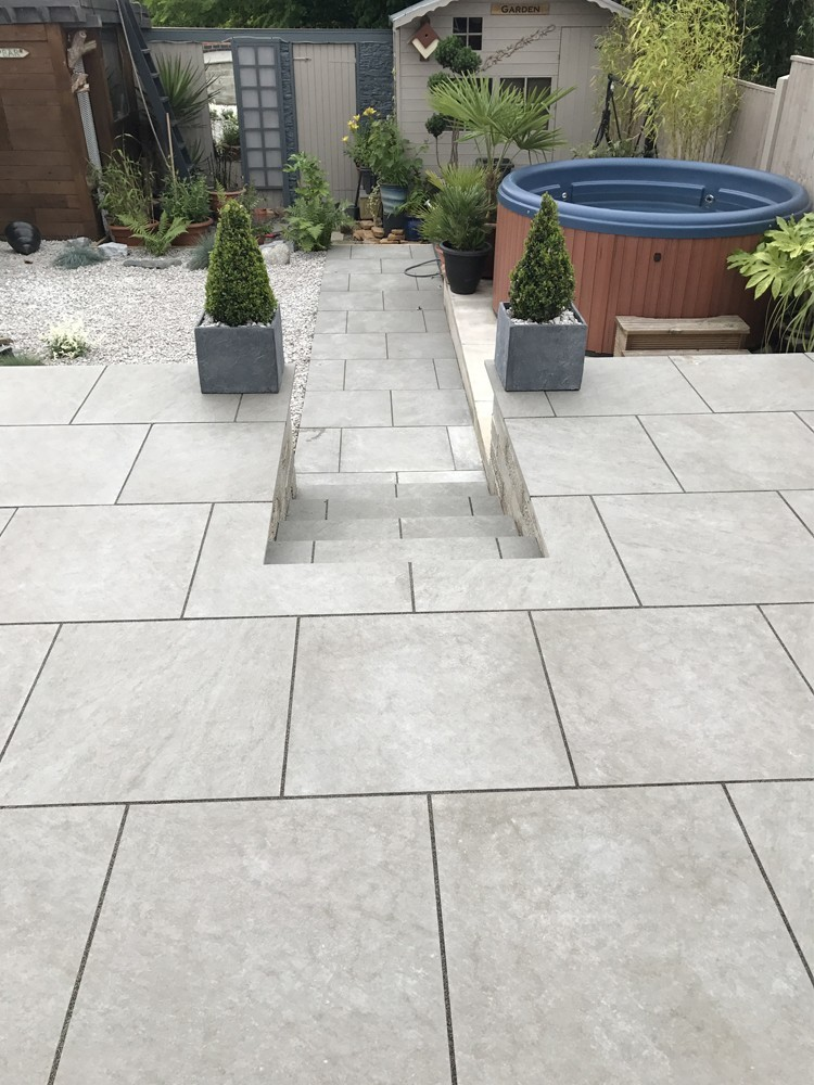 Argento Gris Virtue Vitrified Porcelain Paving Slabs   900x600 Pack