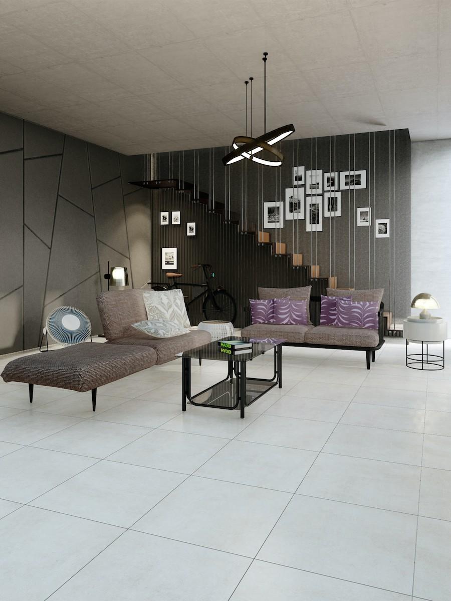 Eclipse Ivory Indoor Floor Tile - 600x600(mm)