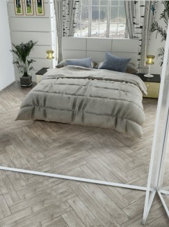 Atelier Teak Wood Effect Herringbone 900x150(mm)