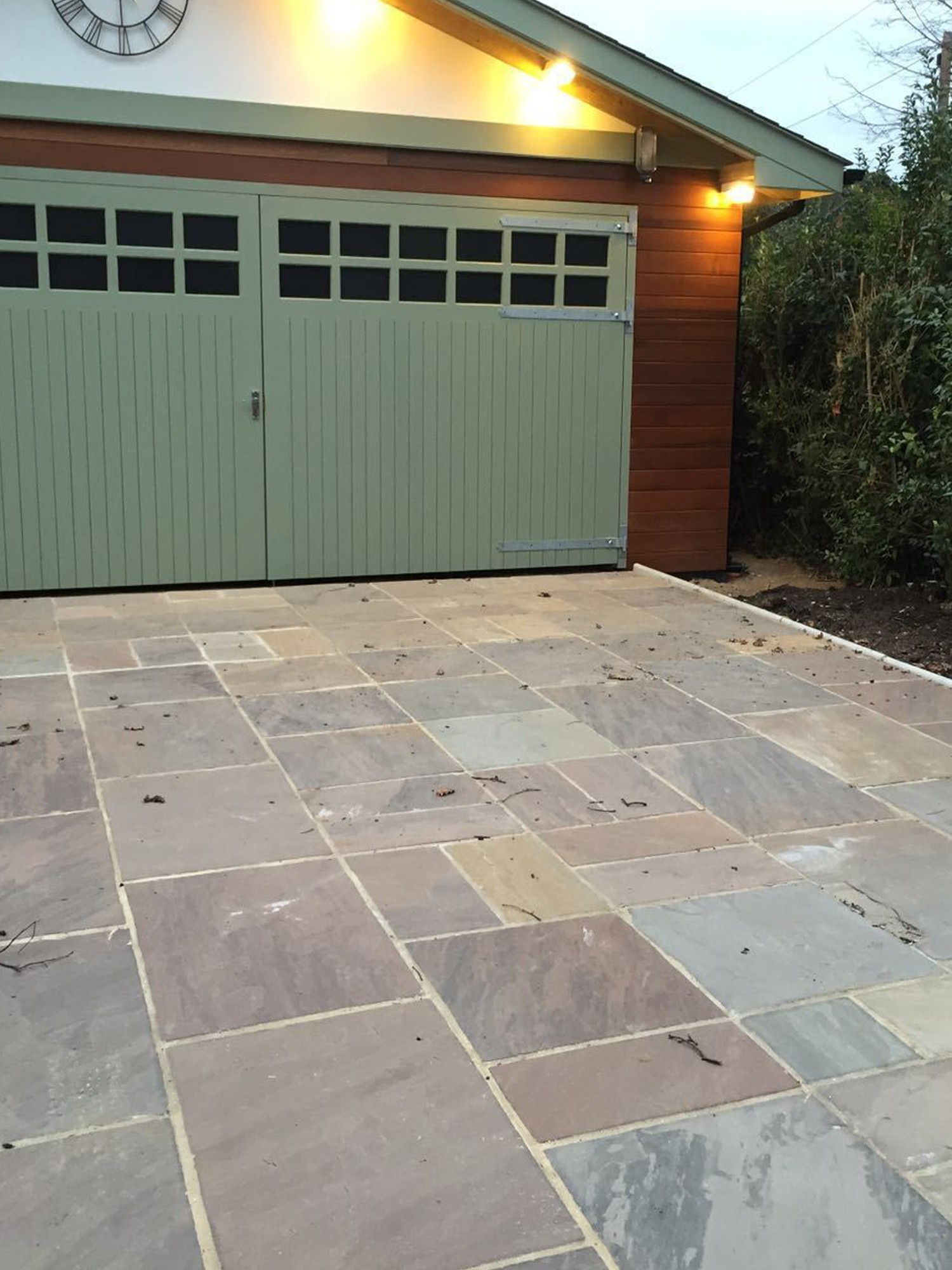 Autumn Brown Indian Sandstone Paving Slabs
