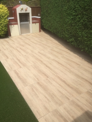 Barn Wood Effect Virtue Vitrified Porcelain Paving Slabs - 910x460 Pack