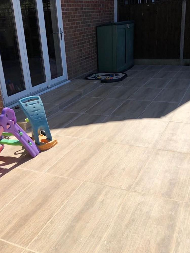 Barn Wood Effect Outdoor Porcelain Paving Slabs 910x460