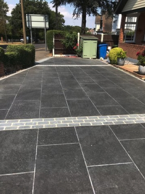 Basalt Black Virtue Vitrified Porcelain Paving Slabs - 900x600 Pack