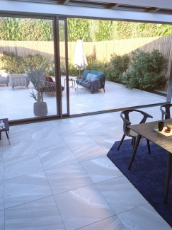 Bianco Slate Effect Indoor Floor Tile - 600x600(mm)