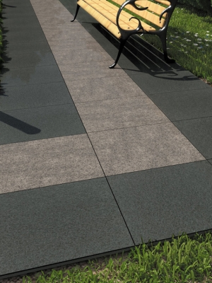 Absolute Black Granite Effect Outdoor Porcelain Paving Slabs - 600x600 Pack