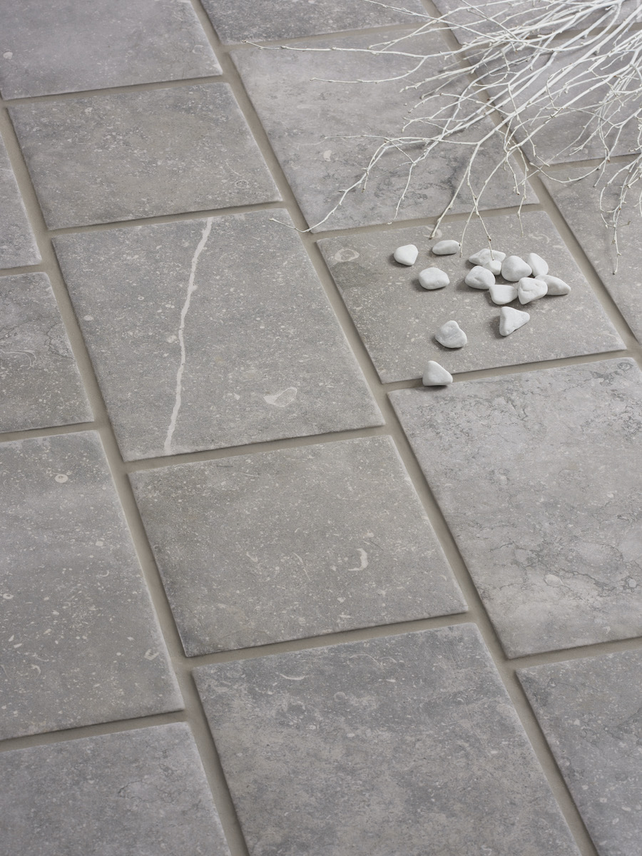 Bluestone Grey Outdoor Porcelain Paving Slabs - Mix Size Pack