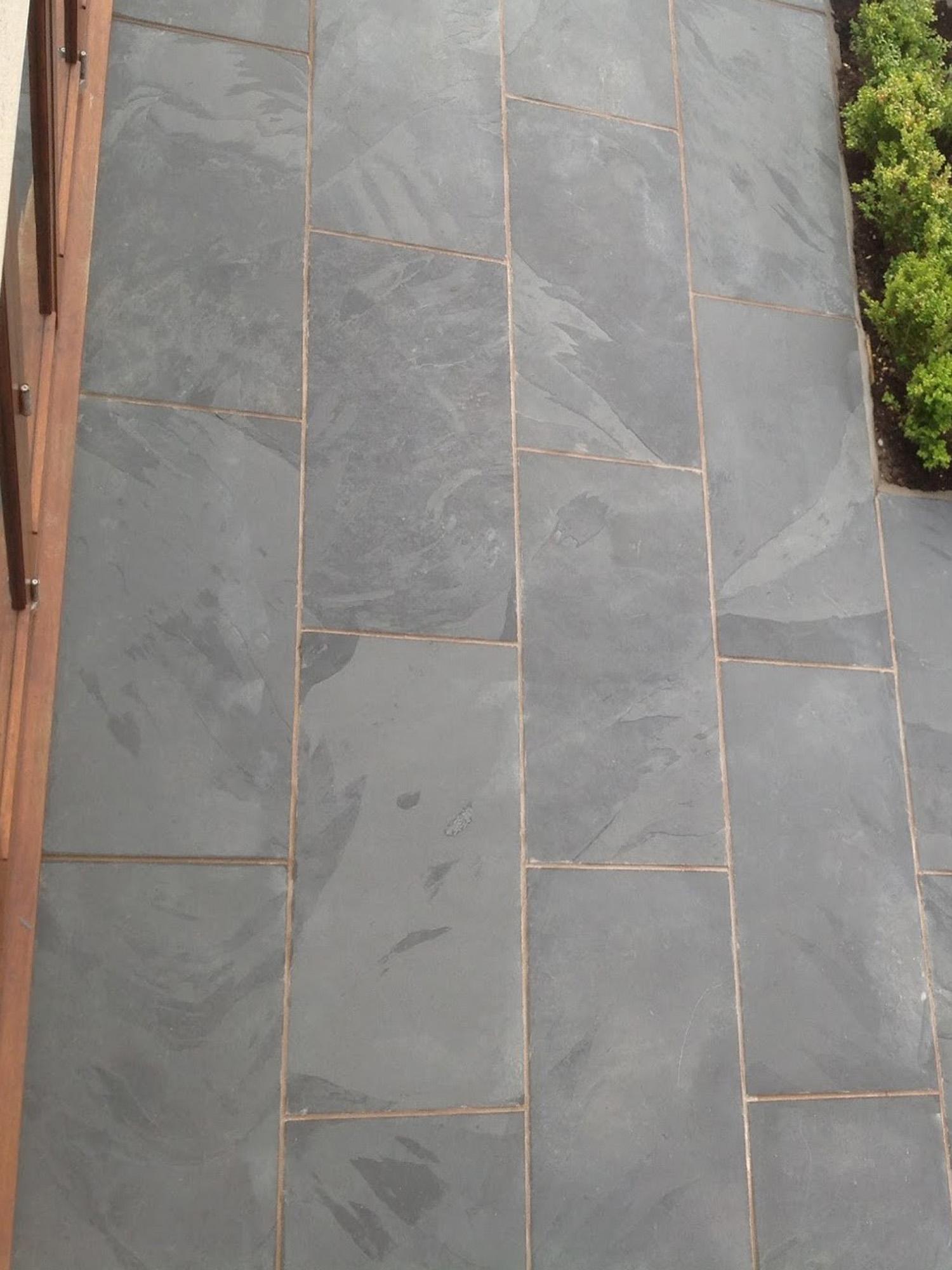 Black Slate Slabs : Brazil black slate paving slabs pack