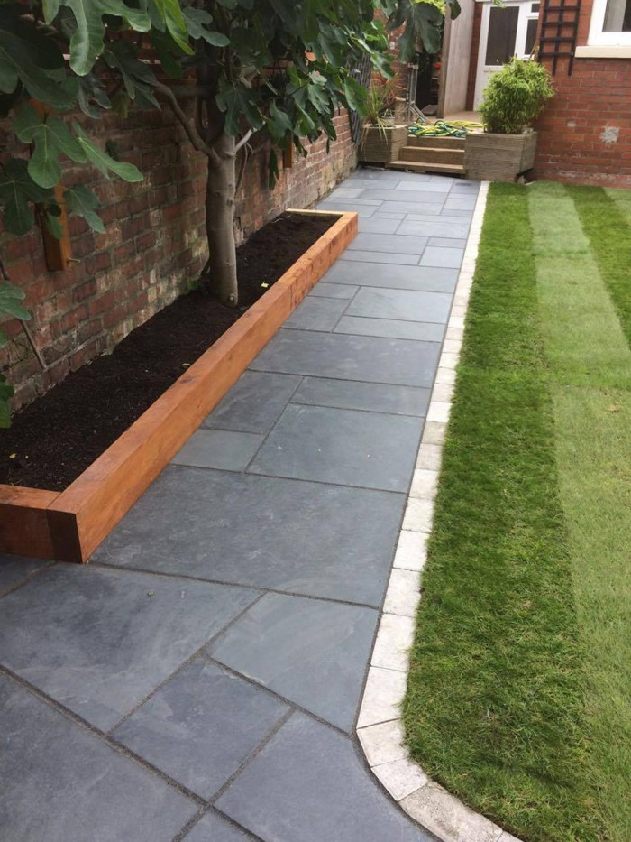 Slate Patio Slabs >> Brazilian Black Slate Paving Brazil Slate Paving Slabs