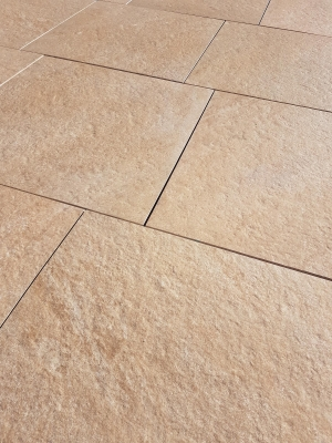 Cashmere Beige Virtue Vitrified Porcelain Paving Slabs - 605x605 Pack