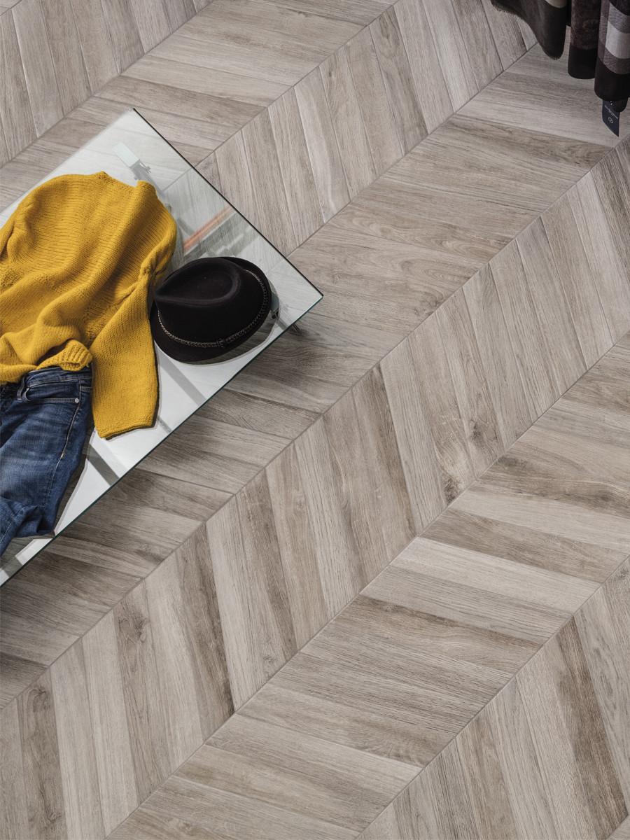 Vintage Cendre Grey Wood Effect Floor Tiles - 407x75(mm)