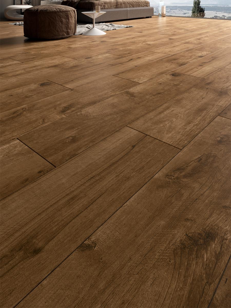 Cherry Oak Wood Indoor Porcelain Floor Tile - 1200x300(mm)