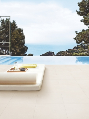Florence Crema Virtue Vitrified Outdoor Porcelain Tiles - 800x400 Pack