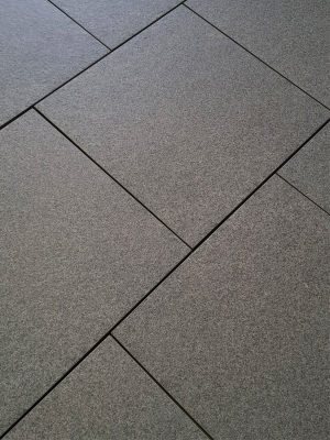 Dark Grey Granite Effect Outdoor Porcelain Paving Slabs - 600x600 Pack