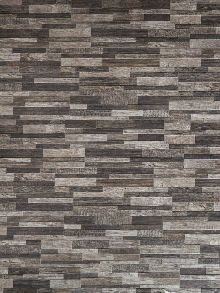 Dark Wood Split Face Effect Outdoor Porcelain Wall Tile - 150x610x7-11(mm)