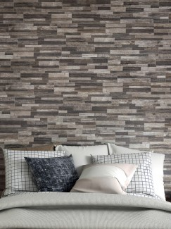 Dark Wood Split Face Effect Porcelain Wall Tile - 150x610