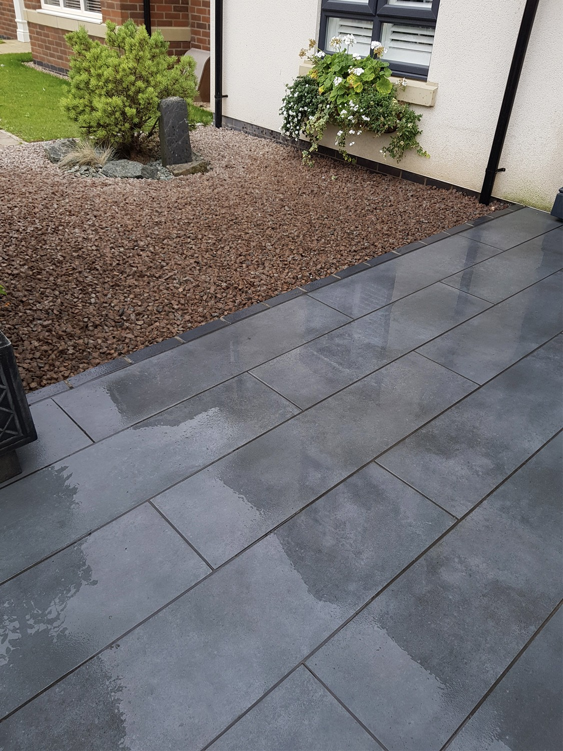 Eclipse Ash Virtue Vitrified Porcelain Paving Slabs - 1200x300 Planks
