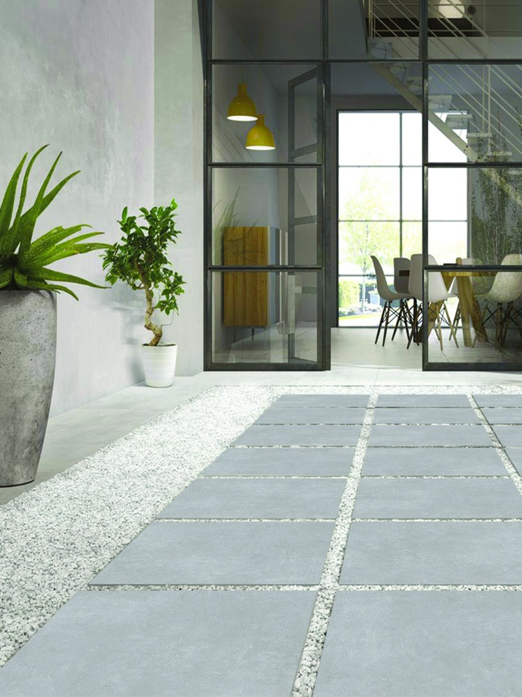 Eclipse Silver Virtue Outdoor Porcelain Paving Slabs - 605x605 Pack