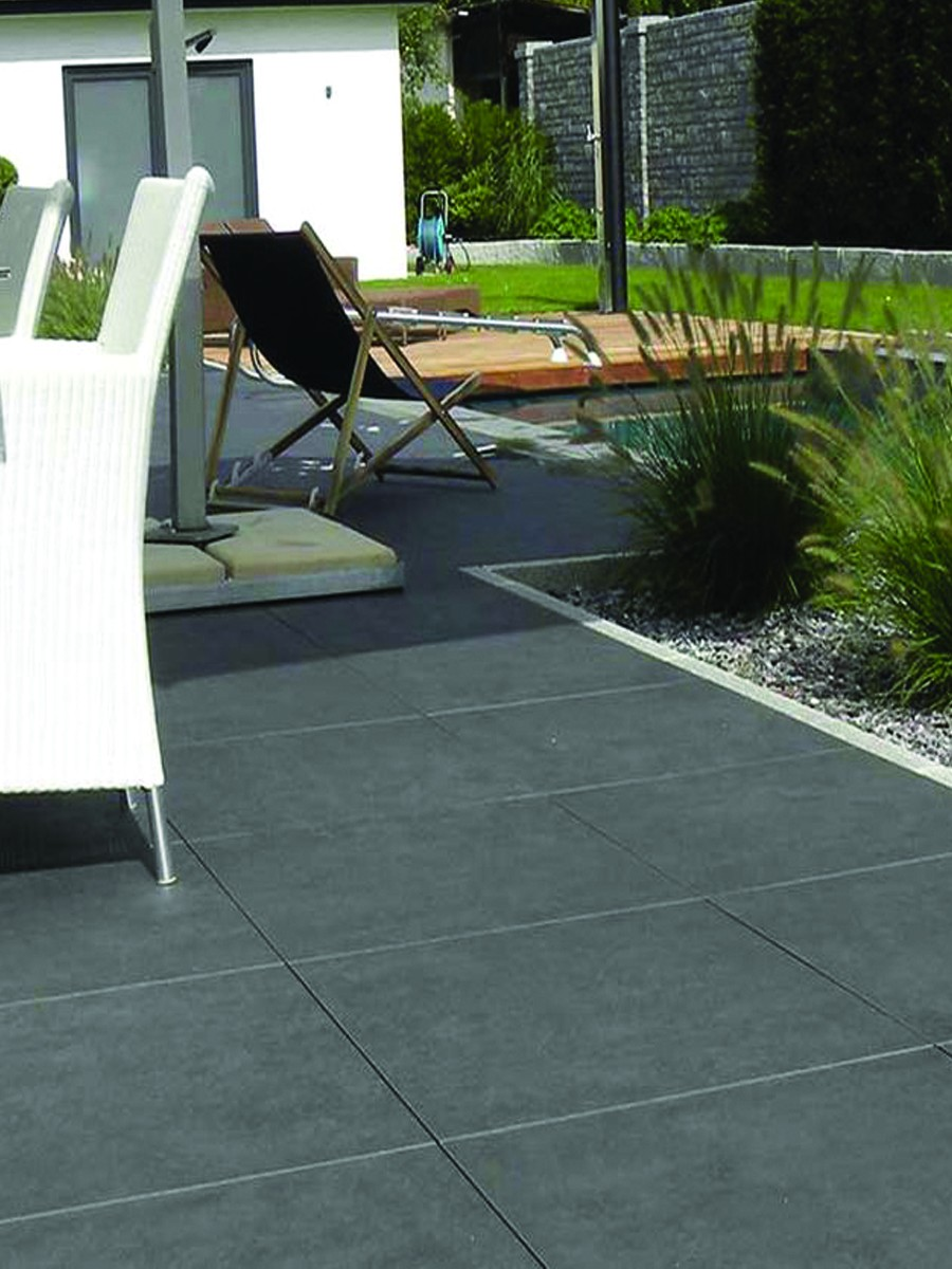 Eclipse Dark Grey Virtue Vitrified Porcelain Paving Slabs - 600x600 Pack
