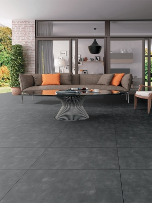 Eclipse Dark Grey Virtue Vitrified Porcelain Paving Slabs - 900x600 Pack