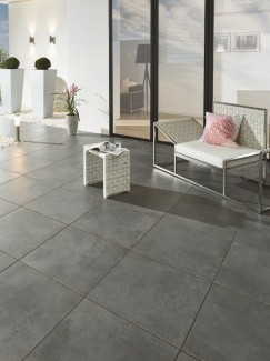 Eclipse Dark Grey Vitrified Driveway Porcelain Paving Slabs - 600x600x30mm Pack
