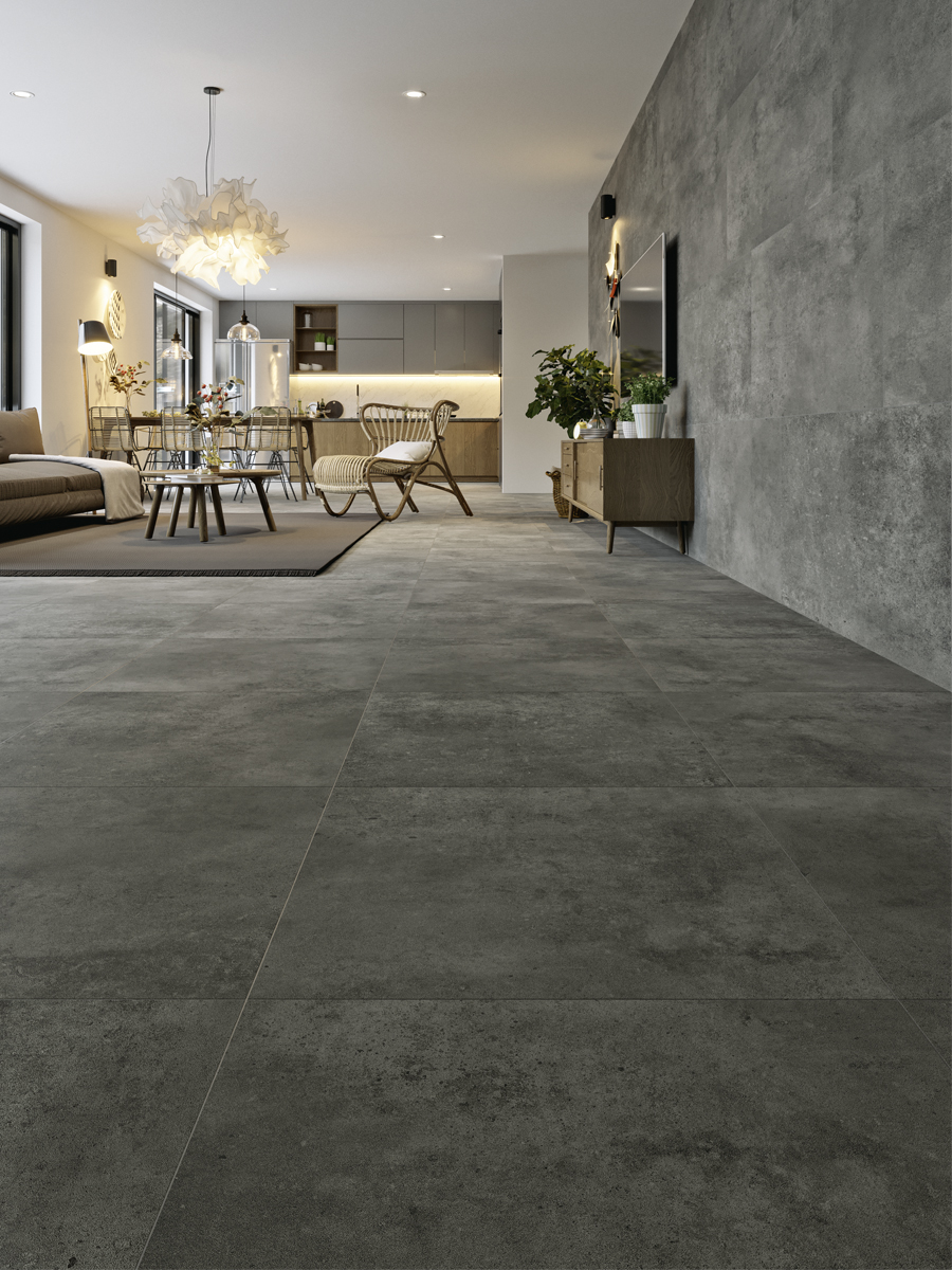 Eclipse Mid Grey Grey Indoor Floor Tile - 600x600(mm)