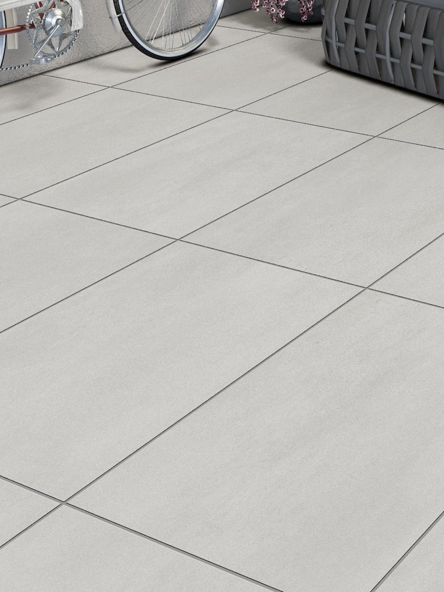 Eclipse Off White Virtue Vitrified Porcelain Paving Slabs - 900x600 Pack