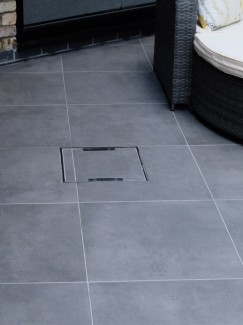 Eclipse Mid Grey Vitrified Driveway Porcelain Paving Slabs - 600x600x30mm Pack