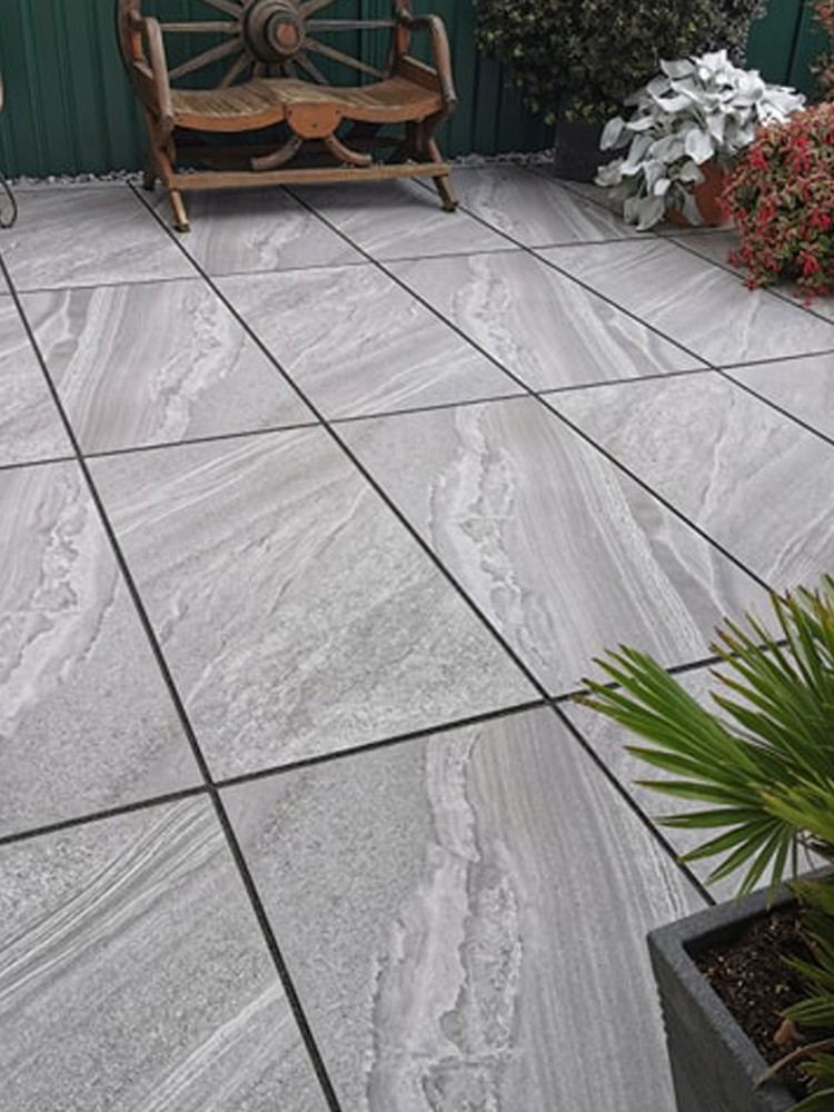 Esparada Grigio Marble Effect Outdoor Porcelain Paving Slabs - 1200x600 Pack