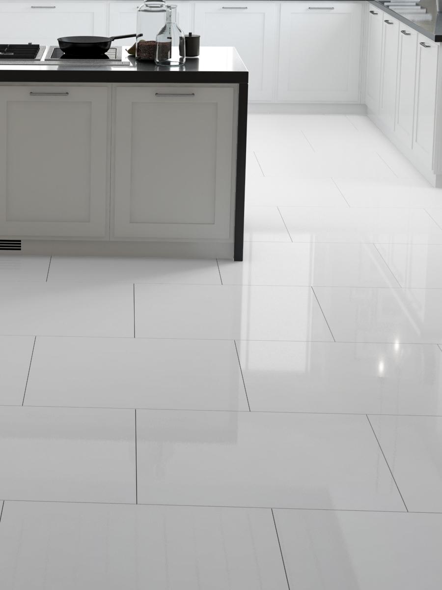 Everest White Gloss Wall & Floor Tile - 600x600(mm)