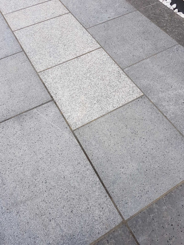 Dark Grey Granite Paving Mid Grey Granite Paving Blue