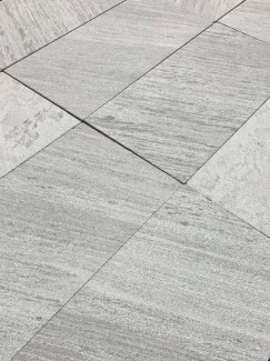 Lincoln Grey Single Size Marble Paving Slabs - 600x600 Pack