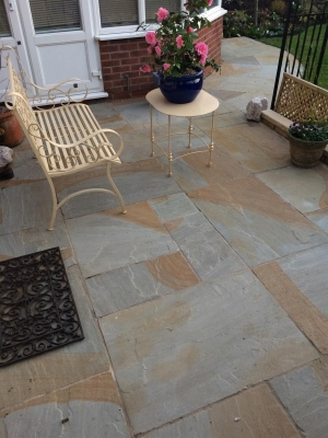 Multi Grey Indian Sandstone Paving Slabs - Mix Size Patio Pack