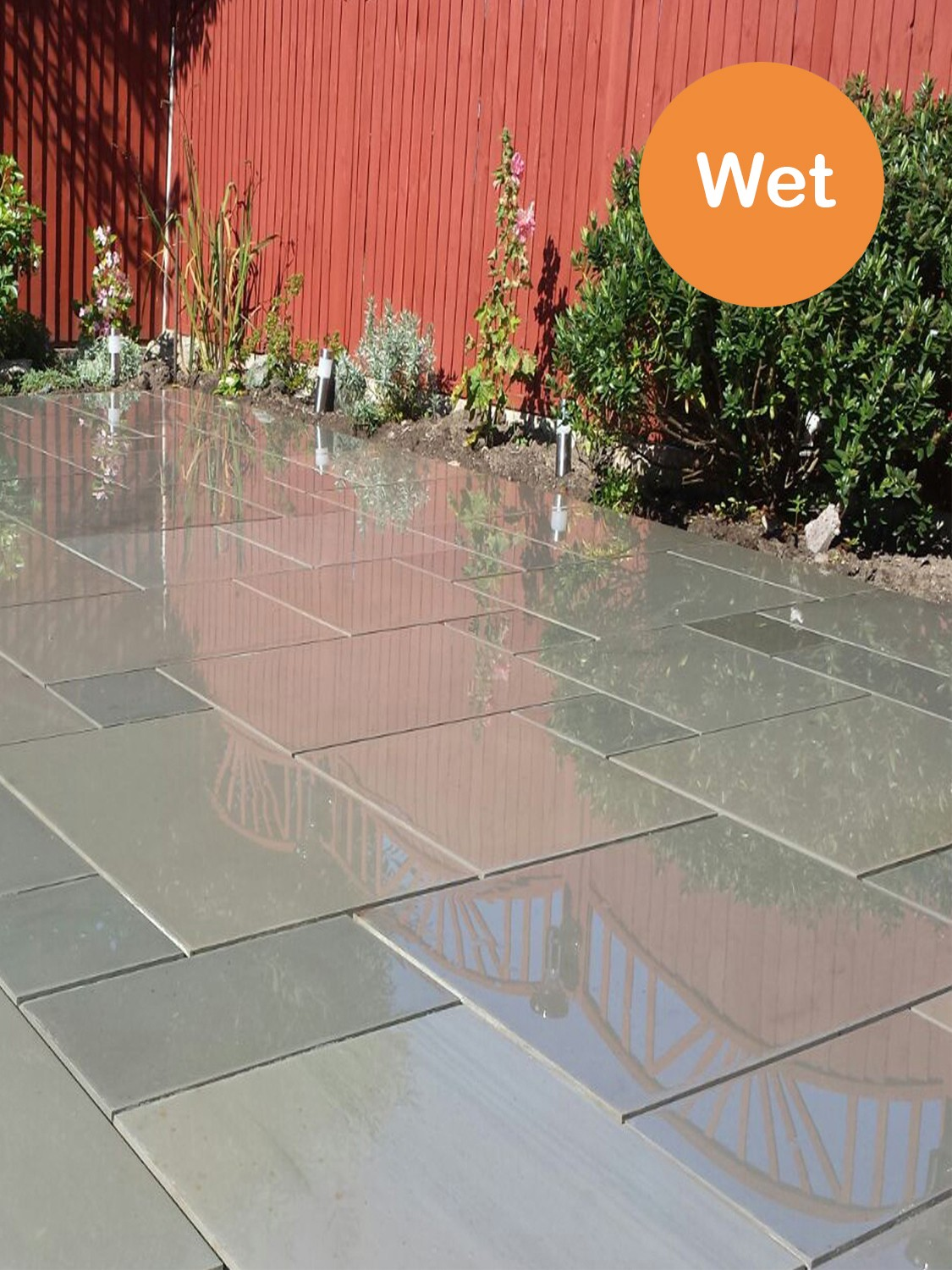 Grey Smooth & Sawn Sandstone Paving - Patio Pack