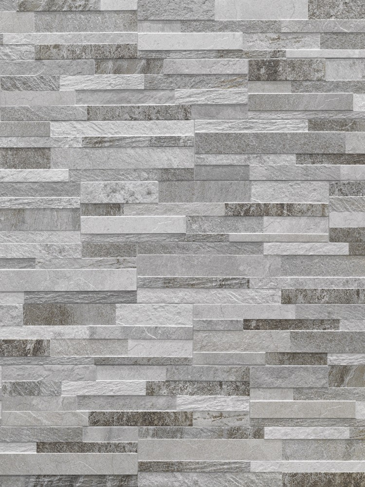 Grey Slate Split Face Effect Outdoor Porcelain Wall Tile - 150x610x7-11(mm)