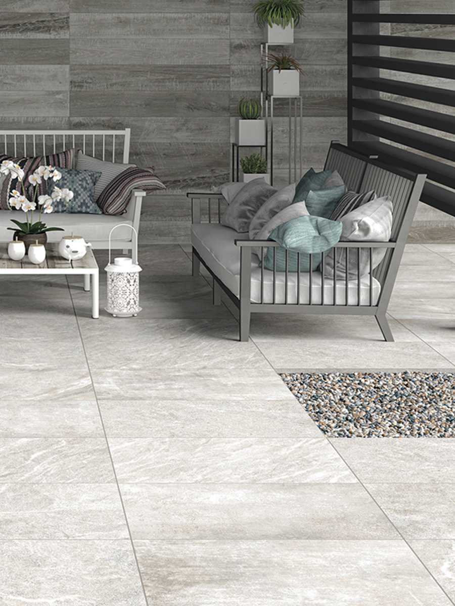 Idemo Smoke Outdoor Porcelain Paving Slabs - 900x600 Pack