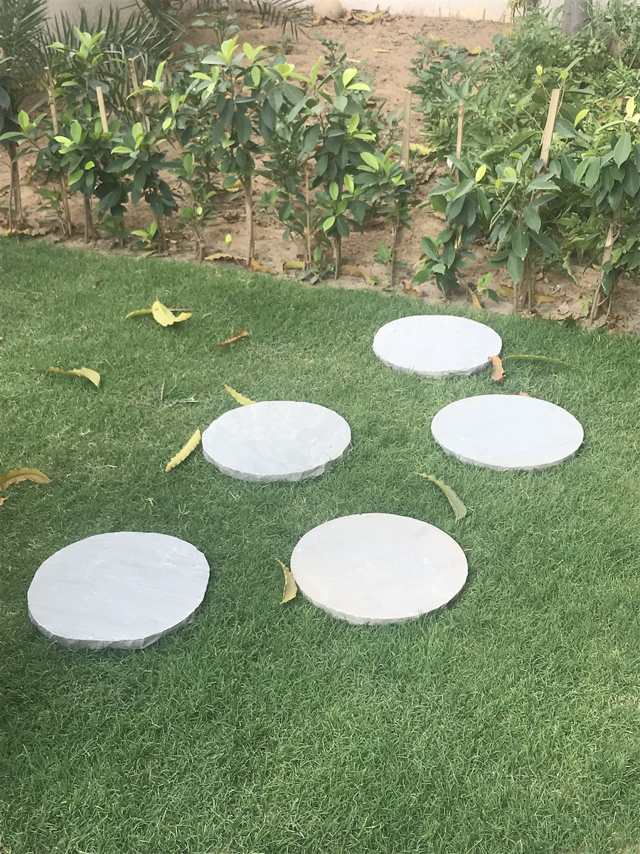 Kandla Grey Sandstone Stepping Stone (5 Pcs)