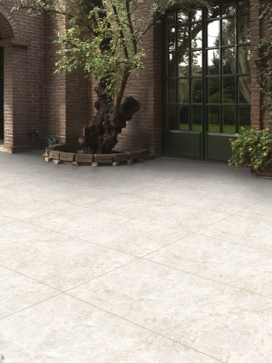 Kaust Beige Travertine Effect King Size Outdoor Porcelain Paving Slabs - 1200x600 Pack