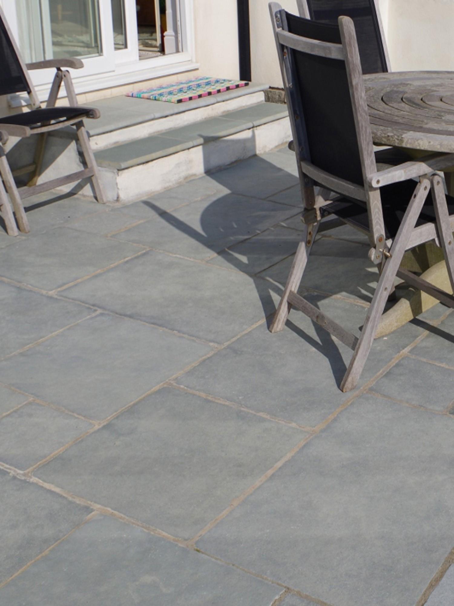 Kota Blue Natural Limestone Paving Slabs - 900x600 Pack