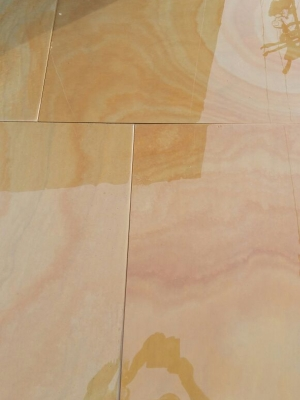 Kota Desert Smooth & Sawn Sandstone Paving - Patio Pack
