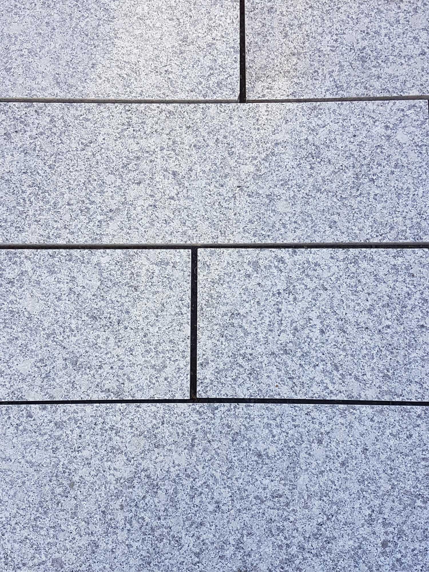 Light Grey Granite Paving Slabs Silver Grey Granite