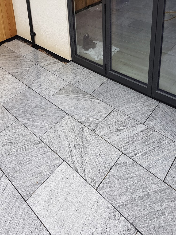 Lincoln Grey King Size Marble Paving Slabs - 900x600 Pack