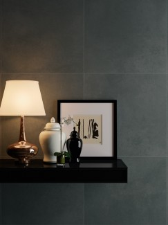 Luna Ash Black Slate Effect Porcelain Tiles - 594x594x9mm