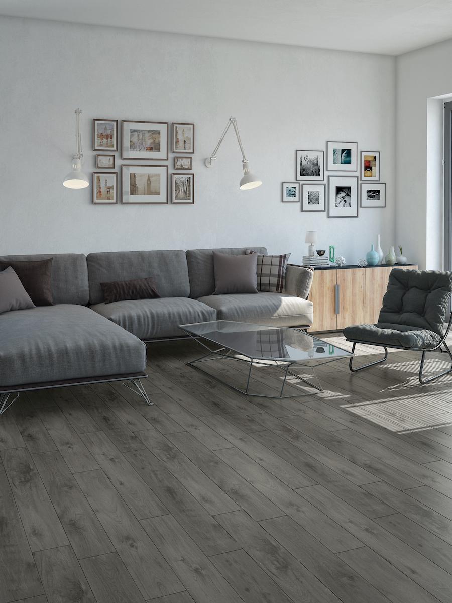 Grey Wood Effect Luxury Vinyl Tile - 1221x180