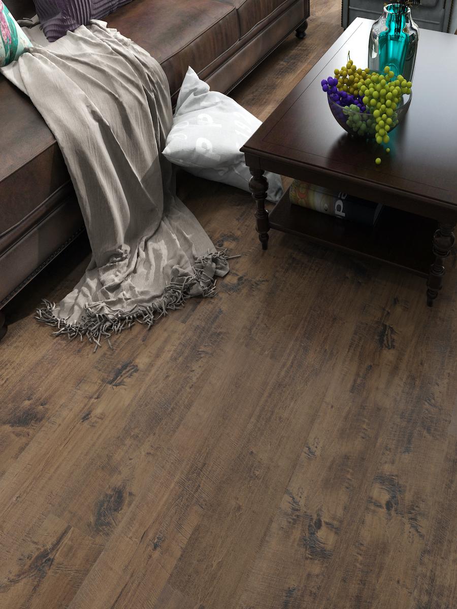 Dark Walnut Click Luxury Vinyl Tiles - 1221x180