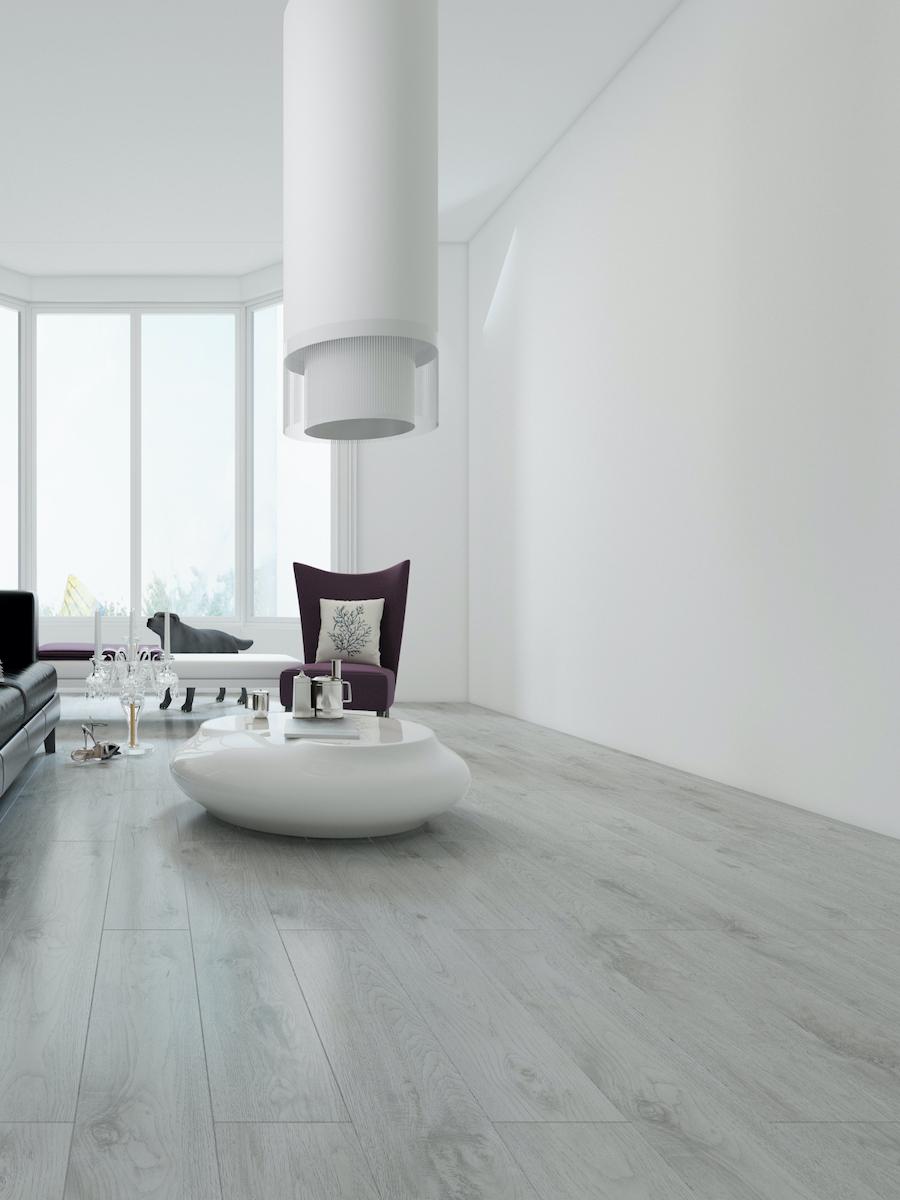 Light Grey Oak Luxury Vinyl Tiles - 1221x180