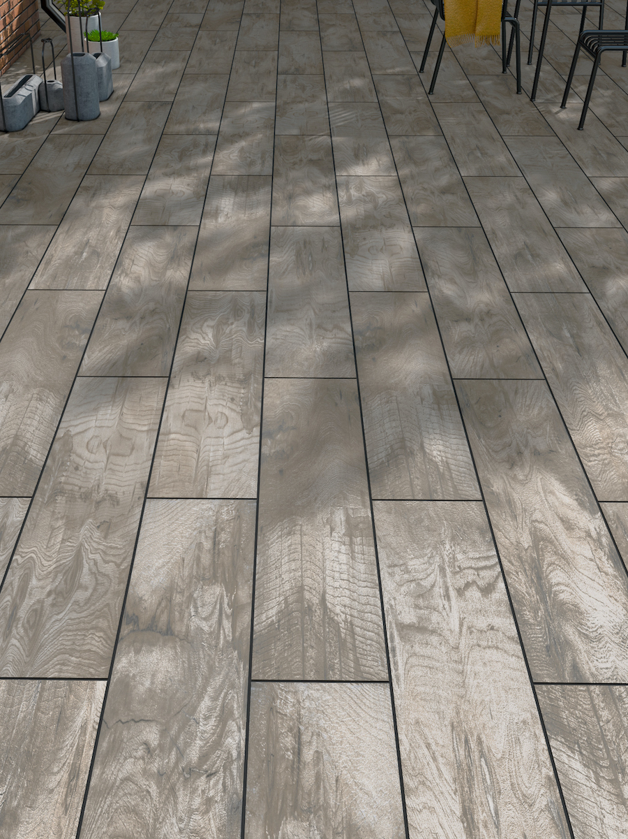 Maple Wood Virtue Vitrified Porcelain Paving Slabs - 1200x300 pack